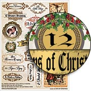 12 Days of Christmas Collage Sheet