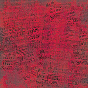 Red Music Scrapbook Paper