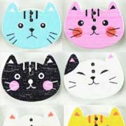 Painted Cat Head Buttons*