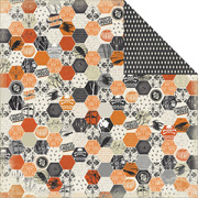 Happy Haunting - Hex Scrapbook Paper