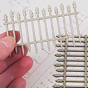 Mini Chipboard Gothic Fence