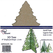 4 Inch Standing Chipboard Trees*