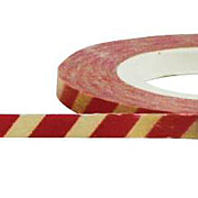 3mm Red & Cream Stripes Paper Tape*