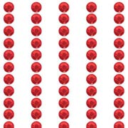 3mm Red Rhinestone Stickers**