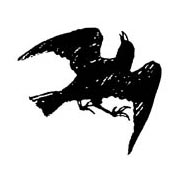 Crow Rubber Stamp
