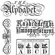 The Alphabet Rubber Stamp Set