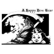 A Happy New Year Rubber Stamp**