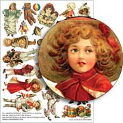 A Childs Christmas Collage Sheet