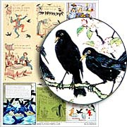 Blackbirds Collage Sheet