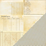 Heritage Note Card Horizontal Scrapbook Paper