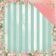 Soiree Striped Charm Scrapbook Paper