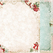 Vintage Christmas Scrapbook Paper - Let it Snow