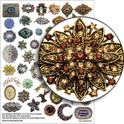 Bejeweled Collage Sheet