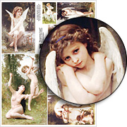 Bouguereau Cupid Collage Sheet