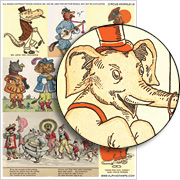 Circus Animals #2 Collage Sheet