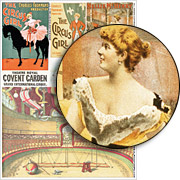 Circus Equestrienne Collage Sheet