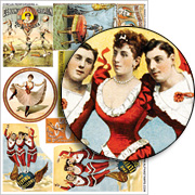Circus Performers #1 Collage Sheet