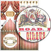Circus Tunnel Parts Collage Sheet