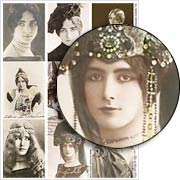 Cleo de Merode ATCs Collage Sheet