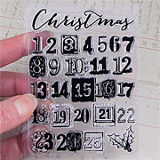 A Victorian Christmas Clear Stamp Set - Countdown