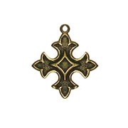 Antique Gold Cross Charms