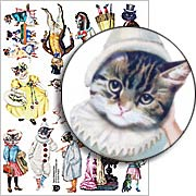 Fancy Dressed Pets Collage Sheet