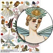 Flower Fairies Collage Sheet