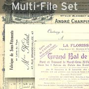 Vintage French Ephemera Set Download