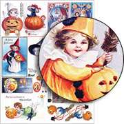 Halloween Children Collage Sheet