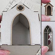 Chipboard Mausoleum Full Kit