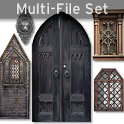 Old Windows & Doors Set Download