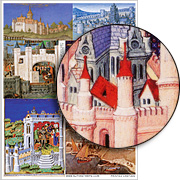 Painted Castles Collage Sheet