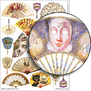 Paper Doll Fans Collage Sheet