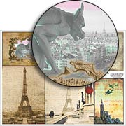 Paris Collage Collage Sheet