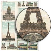 Paris Postcards - Color Collage Sheet
