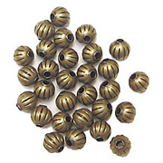 Round Corrugated Metal Beads*