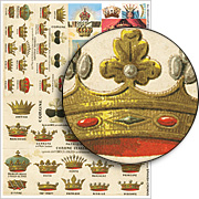 Spanish Crowns Collage Sheet