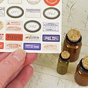 Tim Holtz Corked Apothecary Vials