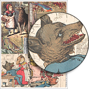 The Wolf At The Door Collage Sheet