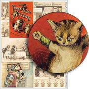 Victorian Kittens Collage Sheet