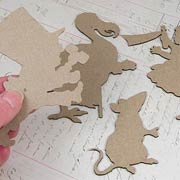 Alice in Wonderland Chipboard Silhouettes