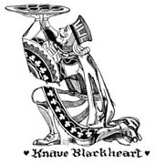 Knave Blackheart Rubber Stamp