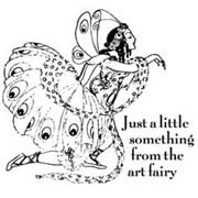 Art Fairy Rubber Stamp