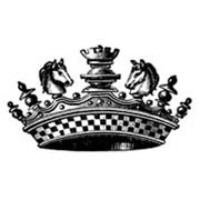 Large Chess Crown Rubber Stamp