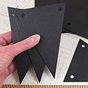 Black Triangular Chipboard Banner Pennants
