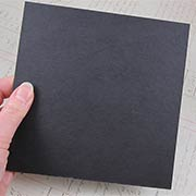 6x6 Black Chipboard