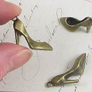 Bronze High Heel Shoe Charms
