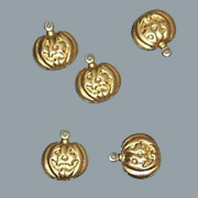 Brass Pumpkin Charms