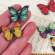 Colorful Butterfly Buttons*
