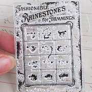 Vintage Button Card Clear Stamp**